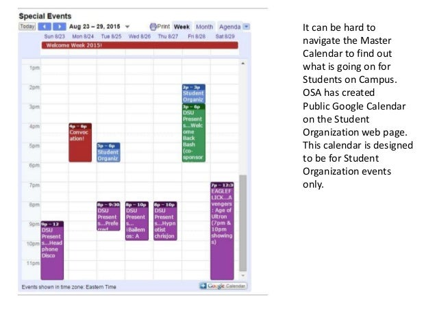 Organization Event Calendar : How to add events winthrop s student organization calendar