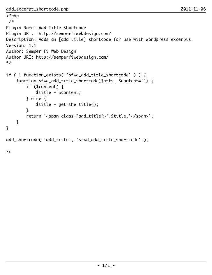 add_excerpt_shortcode.php                                            2011-11-06<?php /*Plugin Name: Add Title ShortcodePlu...
