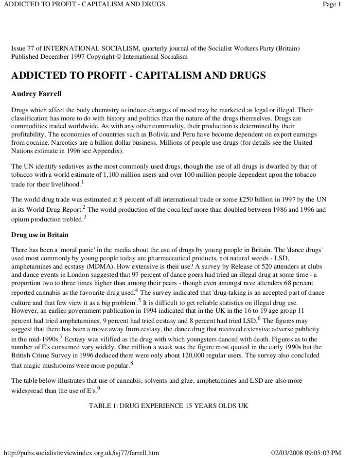 ADDICTED TO PROFIT - CAPITALISM AND DRUGS                                                                           Page 1...