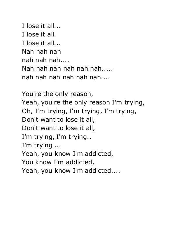 addiction lyrics addicted lyrics