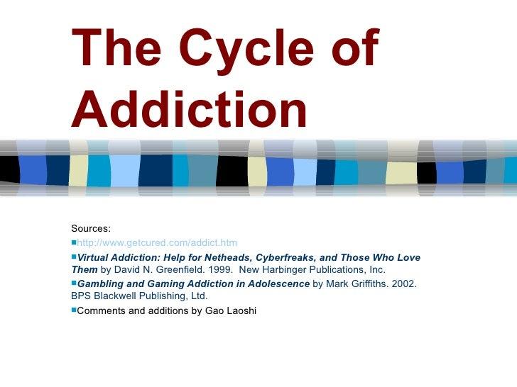 The Cycle of Addiction   <ul><li>Sources: </li></ul><ul><li>http://www.getcured.com/addict.htm </li></ul><ul><li>Virtual A...