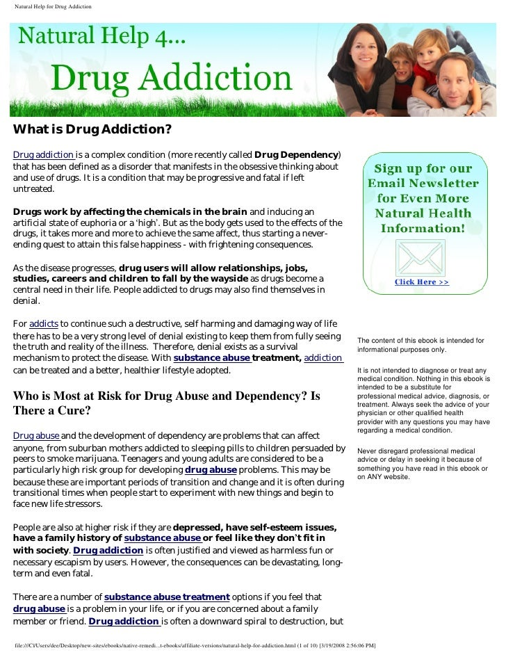 What is Drug Addiction? Drug addiction is a complex condition (more recently called Drug Dependency) that has been defined...