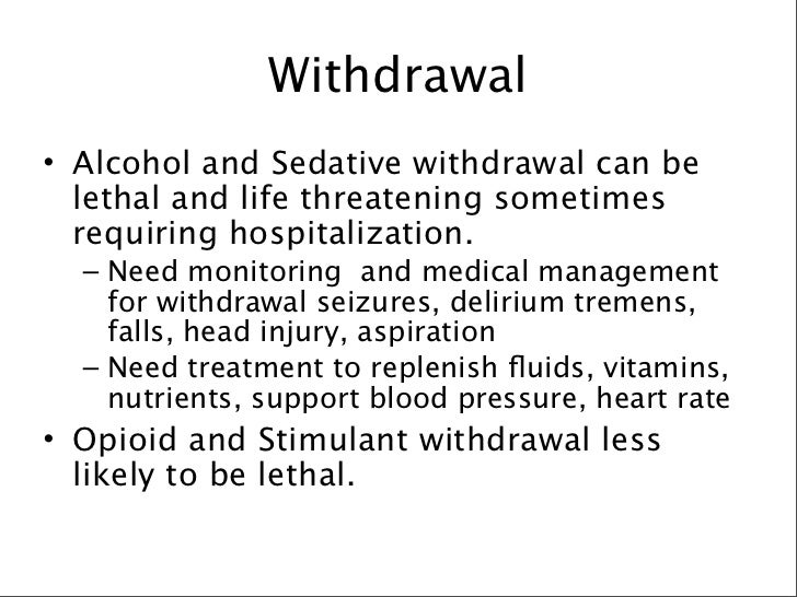 alcohol withdrawal during hospitalization
