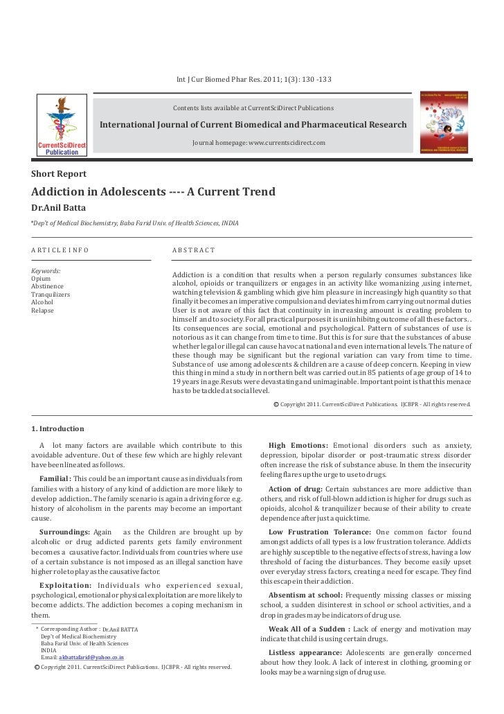 Int J Cur Biomed Phar Res. 2011; 1(3): 130 -133                                                       Contents lists avail...