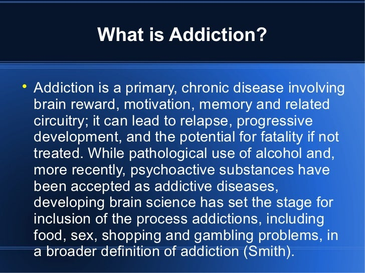 Reviewing Two Types of Addiction – Pathological Gambling and Substance Use