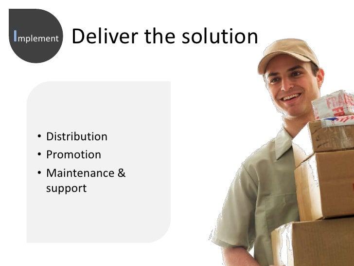 Deliver the solution<br />Implement<br /><ul><li>Distribution