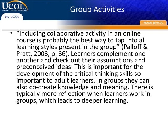 co-reflection in online learning collaborative critical thinking as narrative Dynamics of team reflexivity after feedback co-reflection in online learning: collaborative critical thinking as narrative.