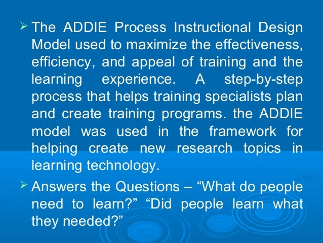 instructional design the addie approach