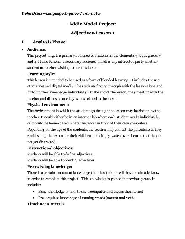 Addie Model Plan