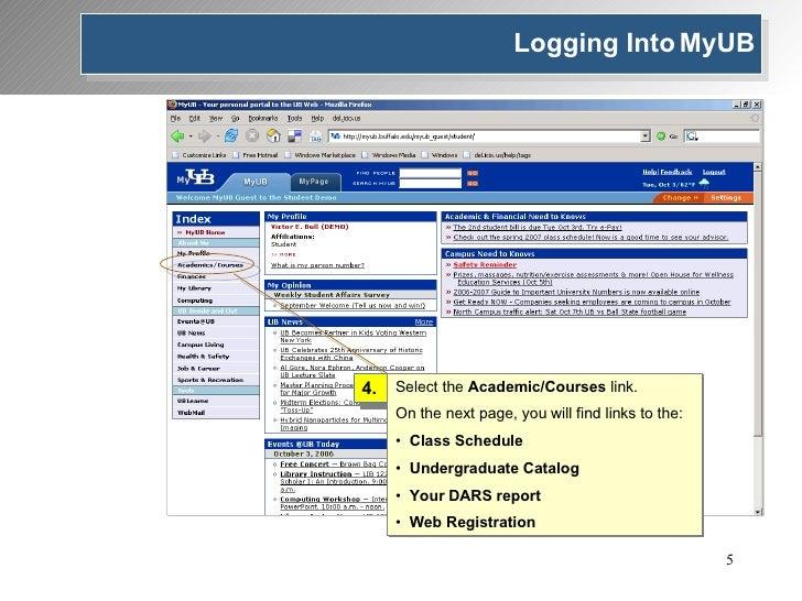 4. <ul><li>Select the  Academic/Courses  link. </li></ul><ul><li>On the next page, you will find links to the: </li></ul><...