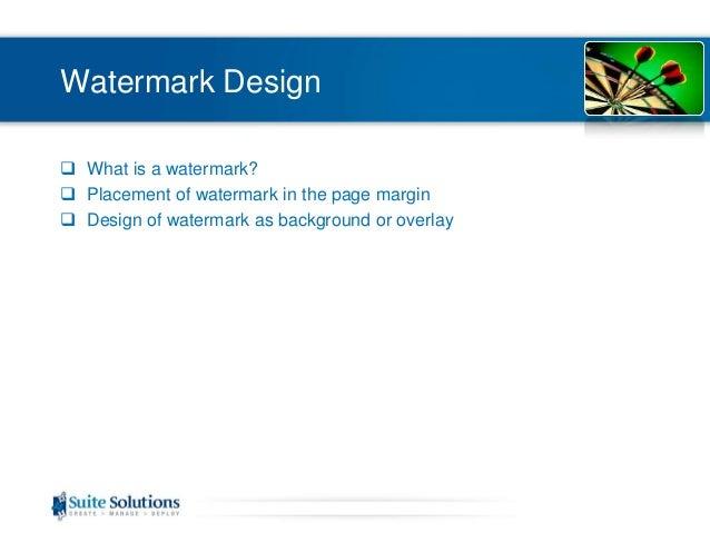 putting a watermark in pdf