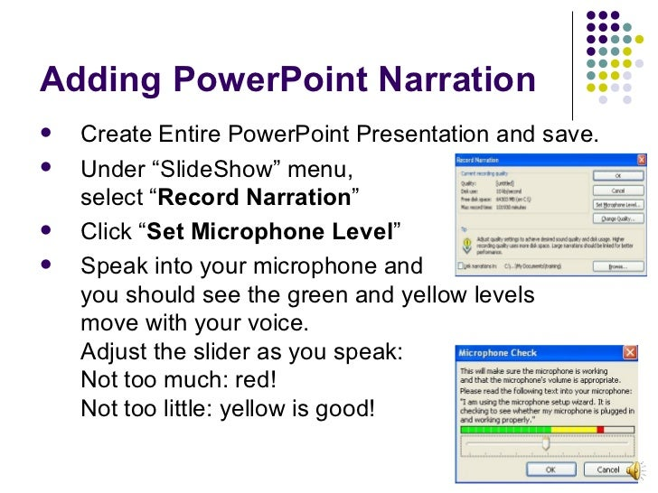 Adding Audio Narration to PowerPoint