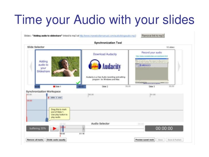 Time your Audio with your slides