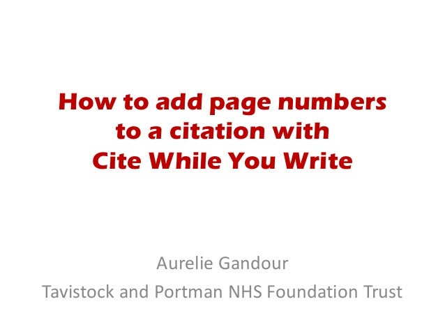 How to write a citation page