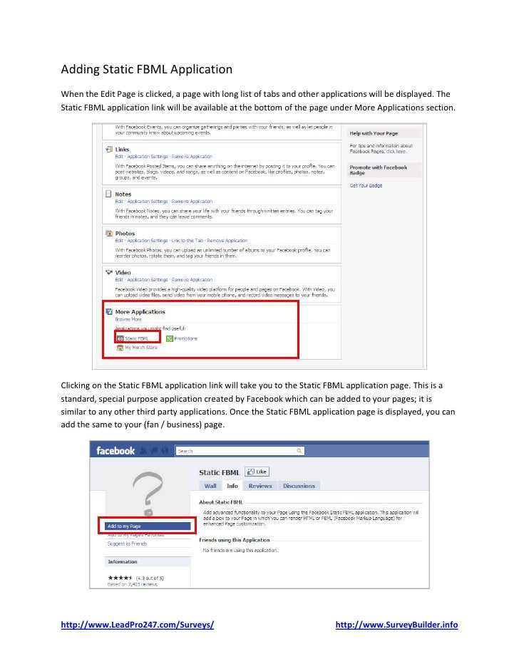 how to add a survey to facebook