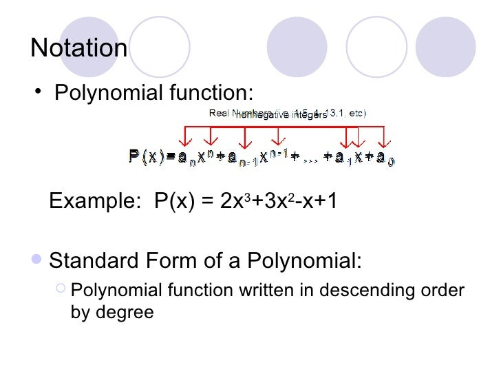 Polynomial Function In Standard Form Dolapgnetband