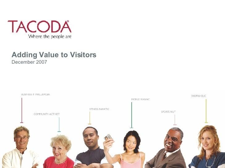 Adding Value to Visitors December 2007