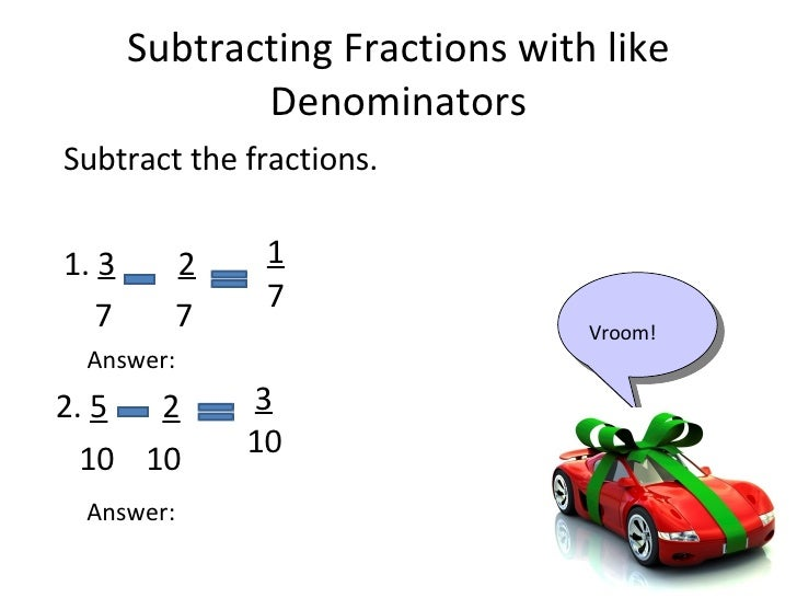 how to solve adding and subtracting fractions