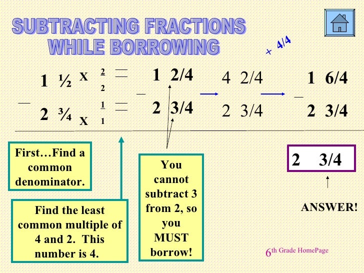 Free Worksheets Adding And Subtracting Fractions With Regrouping – Subtracting Fractions with Borrowing Worksheet