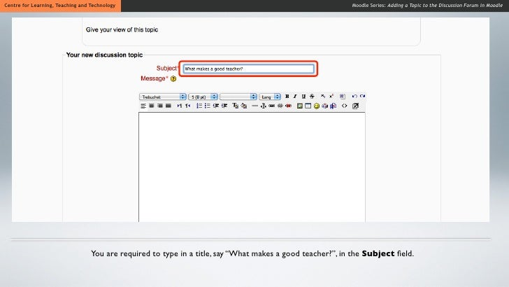 how to create a discussion forum in moodle