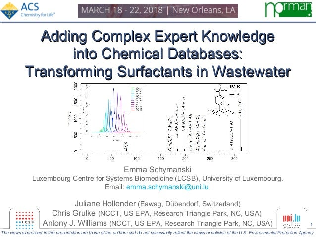 1 Adding Complex Expert KnowledgeAdding Complex Expert Knowledge into Chemical Databases:into Chemical Databases: Transfor...
