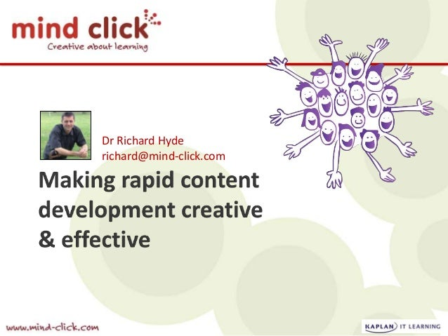 Dr Richard Hyde richard@mind-click.com