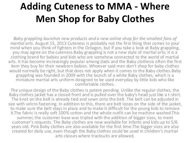 02439c3f3 Adding cuteness to mma where men shop for baby clothes