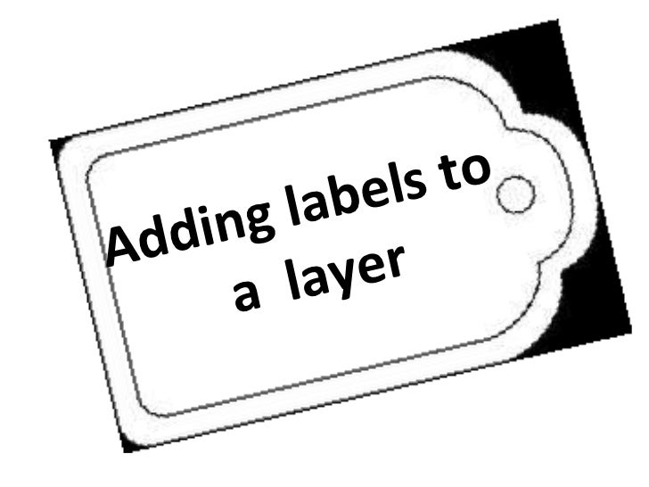 Adding labels to  a  layer