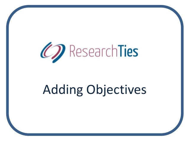 Adding Objectives