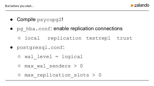 Adding replication protocol support for psycopg2