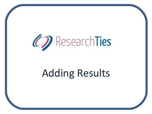 Adding Results