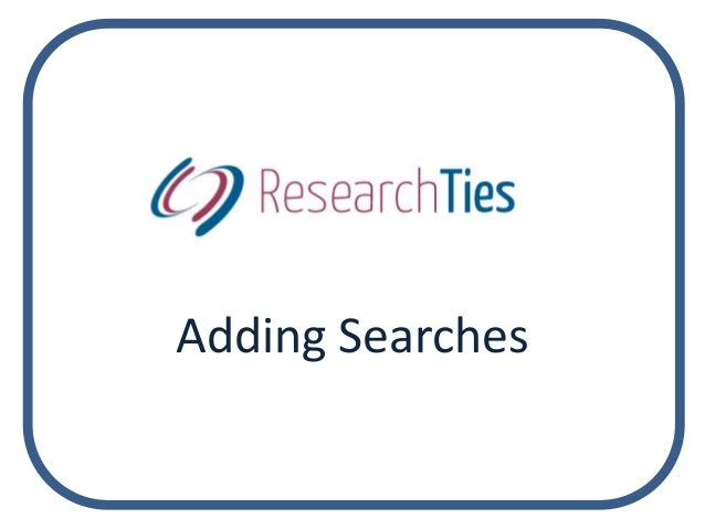 Adding Searches