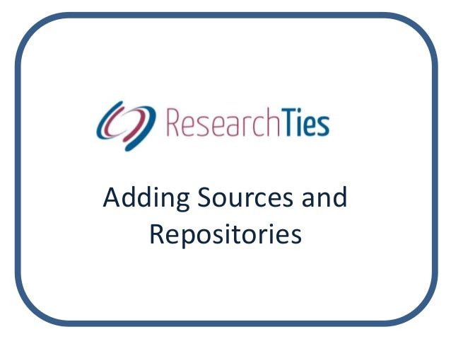 Adding Sources and Repositories