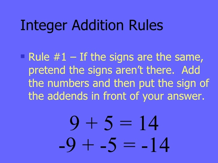 Adding Subtracting Integers – Rules for Adding and Subtracting Integers Worksheet