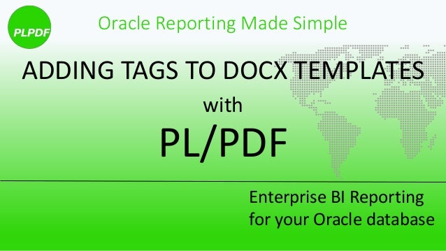 How to add tags to your templates in PL/PDF