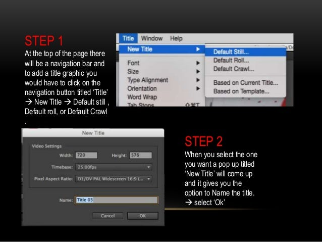 Adding title graphics adobe premiere pro adding title graphics 2 ccuart Image collections