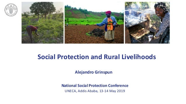 TITLE Social Protection and Rural Livelihoods Alejandro Grinspun National Social Protection Conference UNECA, Addis Ababa,...