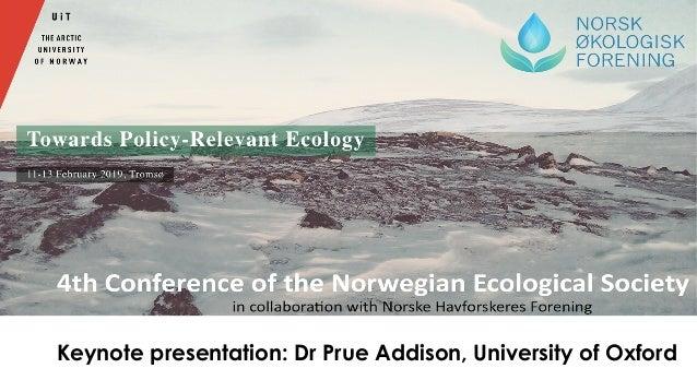 Keynote presentation: Dr Prue Addison, University of Oxford