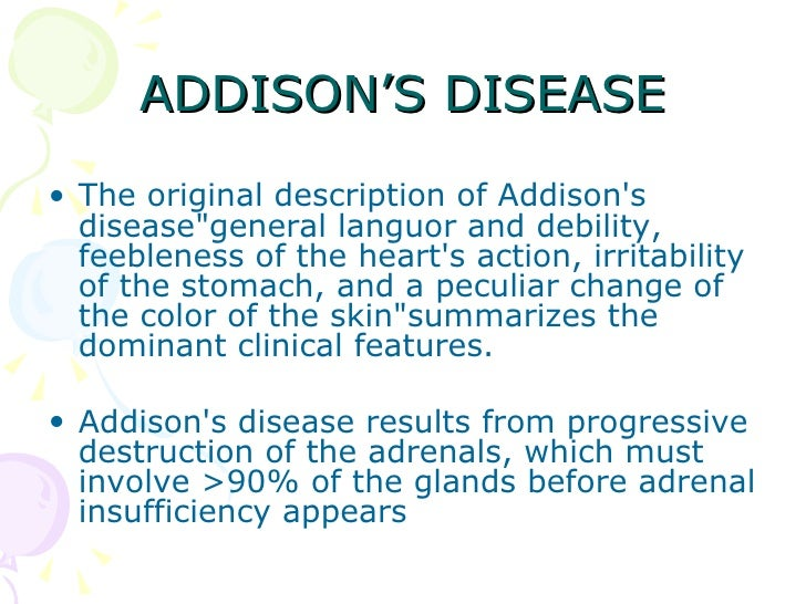 a clinical description of adrenoleukodystrophy Definition adrenoleukodystrophy describes several closely related disorders that  disrupt the breakdown of certain fats these disorders are.