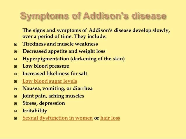 addisons disease essay Post traumatic stress disorder versus addison's disease medical disorder ( addison's disease)  with over 10 years in the essay business.