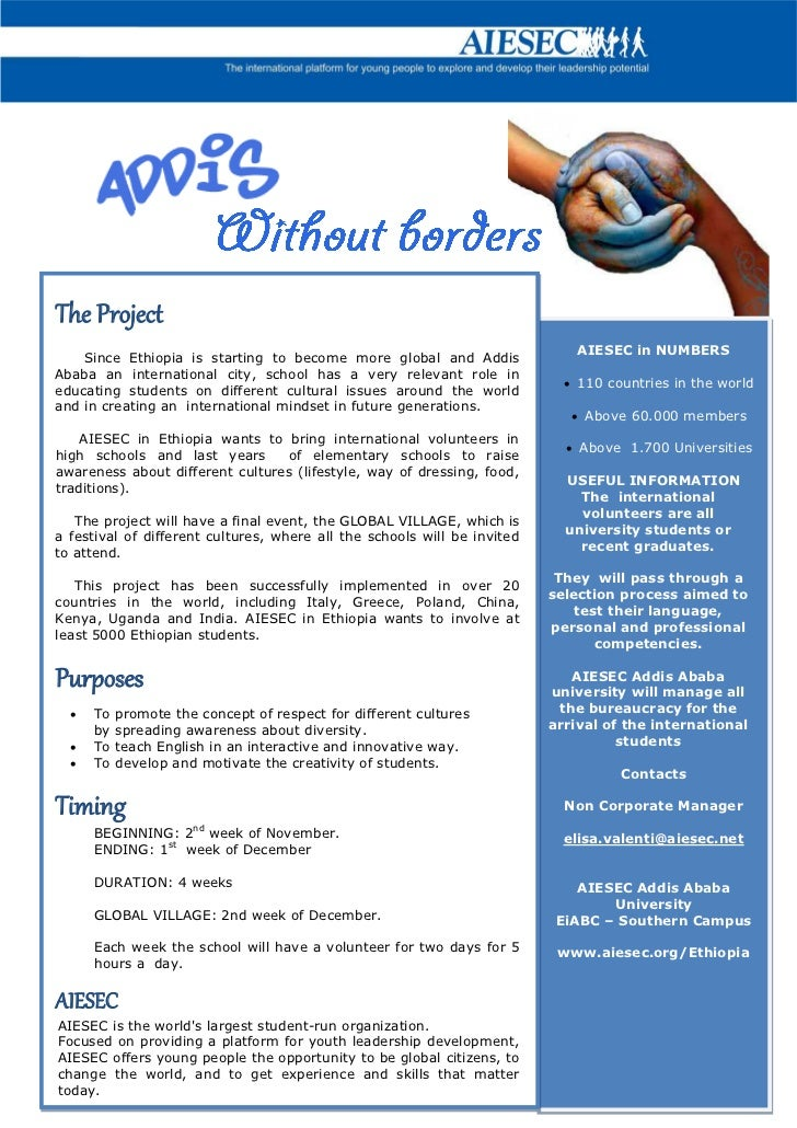 The Project                                                                              AIESEC in NUMBERS    Since Ethiop...