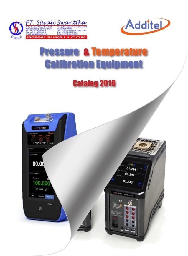 Pressure & Temperature Calibration Equipment Catalog 2018