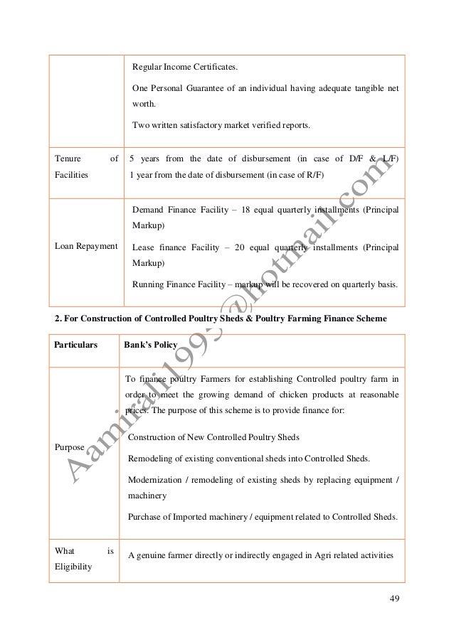 The Bank of Punjab Latest Internship Report With Three Years