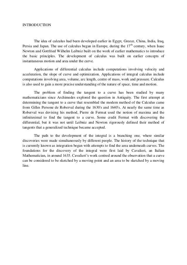 Additional mathematics project 2014