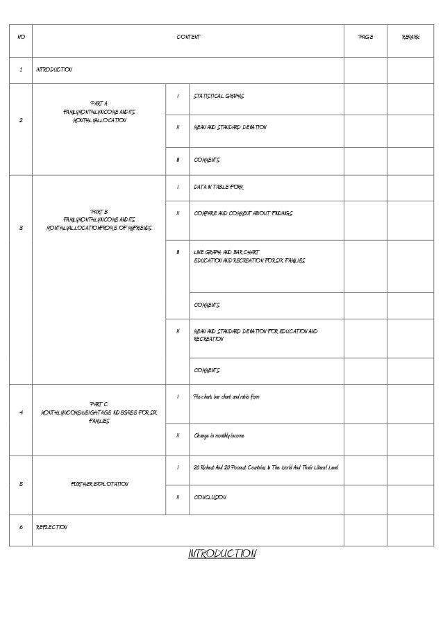 additional mathematics project work 2013 form 5 ): statistics