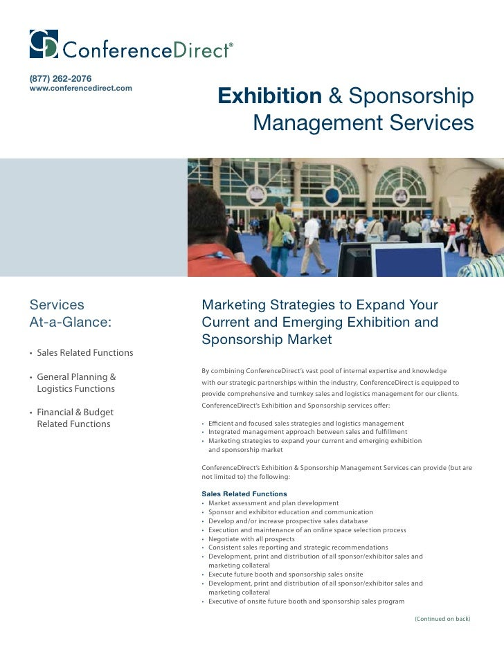 (877) 262-2076                                   Exhibition & Sponsorship www.conferencedirect.com                        ...