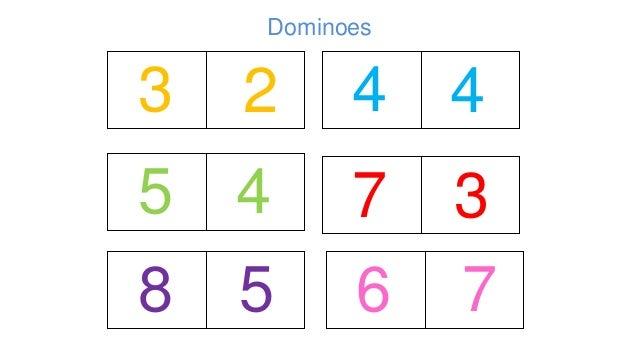3 5 8 2 4 6 7 4 4 3 5 7 Dominoes