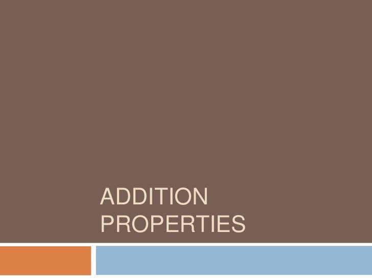 Addition Properties<br />