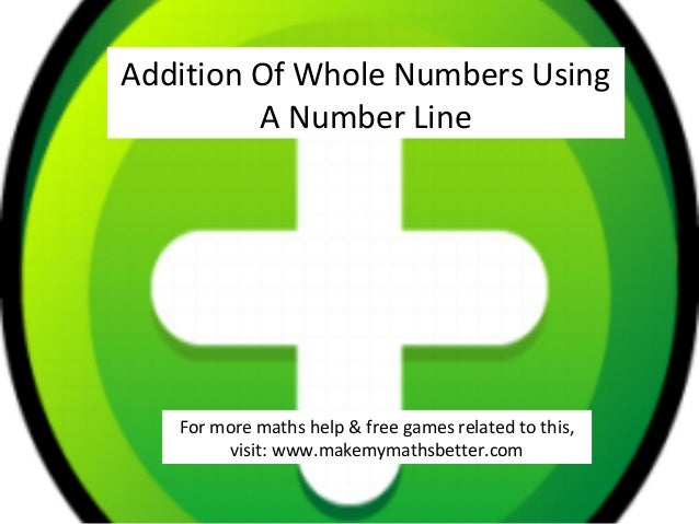 Addition Of Whole Numbers Using A Number Line  For more maths help & free games related to this, visit: www.makemymathsbet...