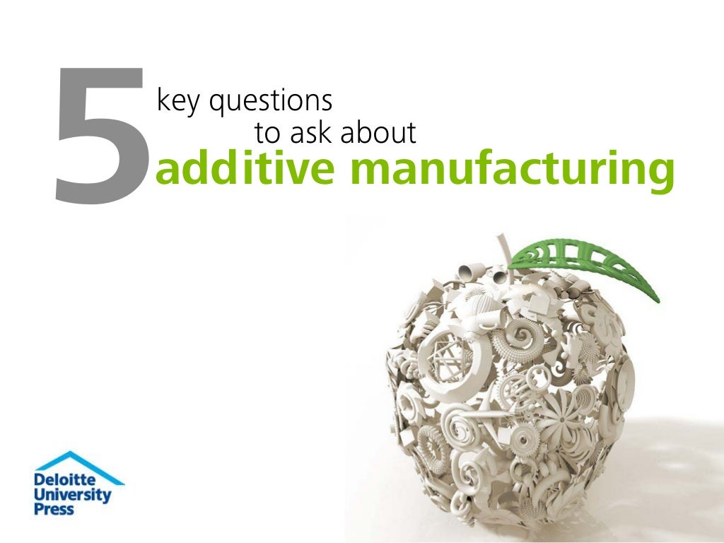 5 key questions to ask about additive manufacturing